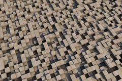 cubes 3d avec une texture grunge Photos stock