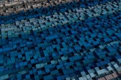 cubes 3d avec une texture grunge Photographie stock libre de droits