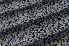 cubes 3d avec une texture grunge Image stock