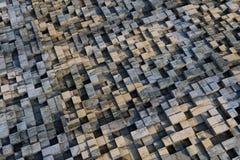 cubes 3d avec une texture grunge Images libres de droits