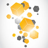 Cubes 3D background Royalty Free Stock Photos
