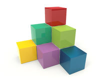 Cubes 3d. Colorful infographic element Stock Photo