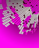 Cubes. 3D illustration of abstract cubes Royalty Free Stock Images