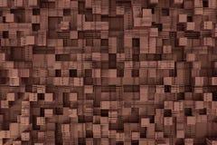Cubes 3d plaqués par métal Image libre de droits