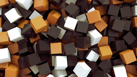 Cubes. 3 D render of different colored cubes Stock Photography
