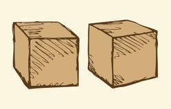 Cubes dans différents angles illustration libre de droits