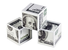 Cubes de dollars Photographie stock