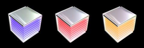 Cubes de haute résolution. Image stock