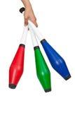 Cubes de jonglerie colorés Photographie stock