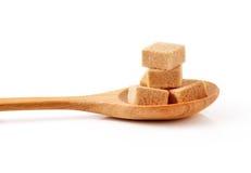 Cubes de sucre de canne Images libres de droits