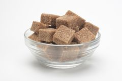 Cubes de sucre roux photo libre de droits