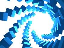 Cubes de tourbillonnement sur le blanc Images libres de droits