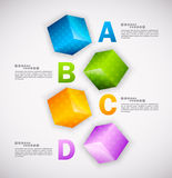 Cubes design. Infographic Stock Photos