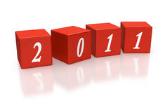 Cubes or Dice Depicting the year 2011 Stock Image