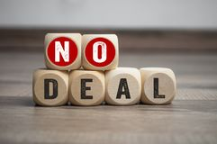 Cubes dice with no deal royalty free stock images