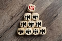 Cubes Dice with Teamwork royalty free stock images