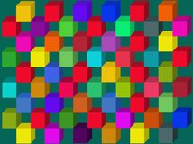 Multicolored cubes.Vector. Stock Photos