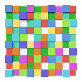Cubes at different levels as an abstract background. Colored blocks at different levels as an abstract background Vector Illustration