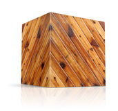 Cubes in different types of wood Stock Image