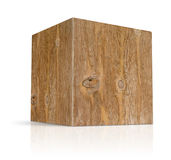 Cubes in different types of wood Royalty Free Stock Image