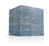 Cubes in different types of wood Royalty Free Stock Images