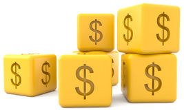 Cubes with dollar sign Royalty Free Stock Image
