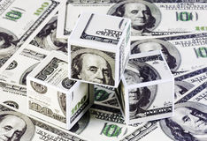 Cubes of dollars Royalty Free Stock Photo