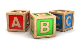 Cubes en ABC Photographie stock