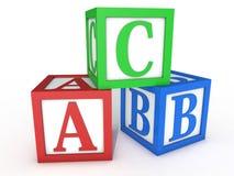 Cubes en ABC Photo libre de droits