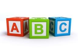 Cubes en ABC Images stock