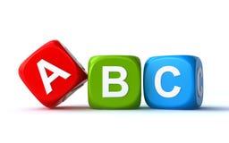 Cubes en ABC Image stock