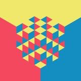 Cubes en abrégé sur le vecteur 3d Descripteur coloré canette illustration libre de droits