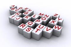 Cubes en alphabet Image libre de droits