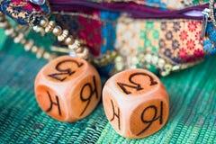 Cubes en astrologie photographie stock libre de droits