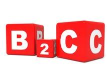 Cubes en B2C sur le fond blanc Image libre de droits