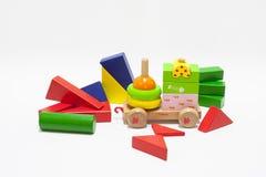 Cubes en bois Photo stock
