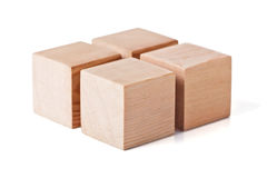 Cubes en bois Photographie stock
