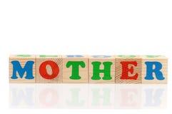 Cubes en bois avec des lettres Photographie stock libre de droits