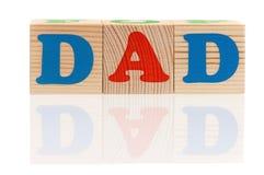 Cubes en bois avec des lettres Photos stock