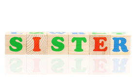 Cubes en bois avec des lettres Image stock