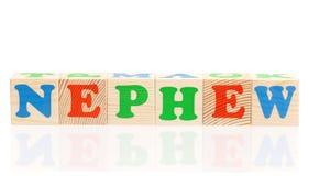Cubes en bois avec des lettres Photographie stock