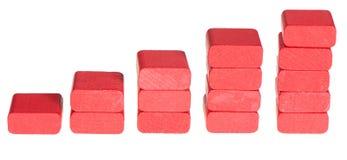 Cubes en bois en couleur Photographie stock libre de droits