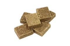 Cubes en bouillon de couleur brune Image stock