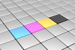 Cubes en CMYK illustration de vecteur