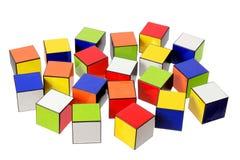 Cubes en couleur Photo libre de droits