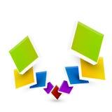 Cubes en couleur Images libres de droits