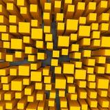 Cubes en couleur 3d Image libre de droits