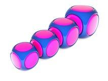 Cubes en couleur Photos stock