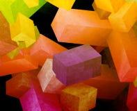 Cubes en cristal illustration stock