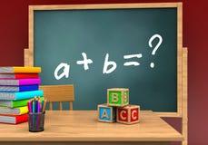 cubes en 3D ABC Photo libre de droits
